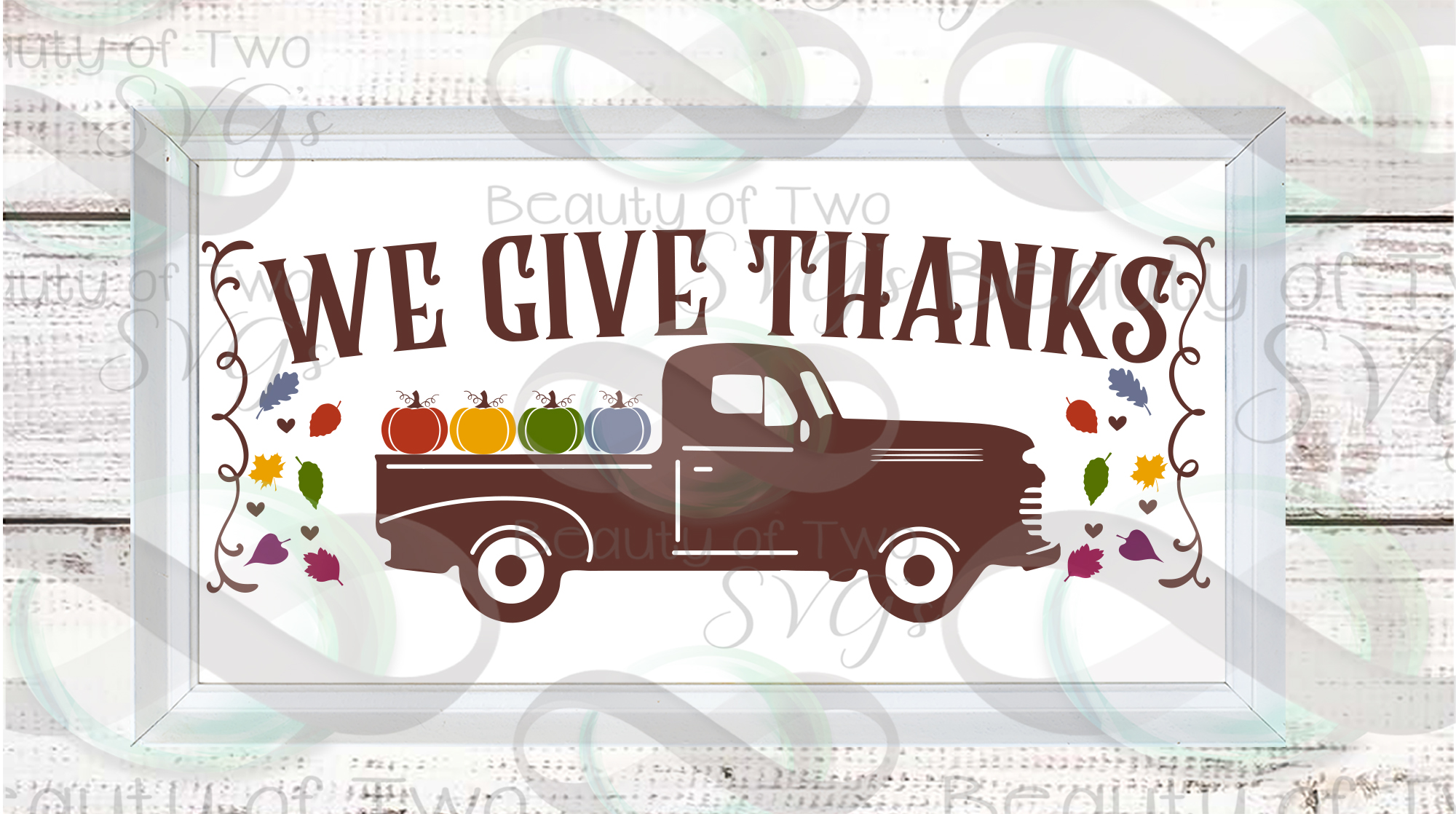 Fall svg Farmhouse Bundle Give Thanks svg, 6 Fall svg design example image 2