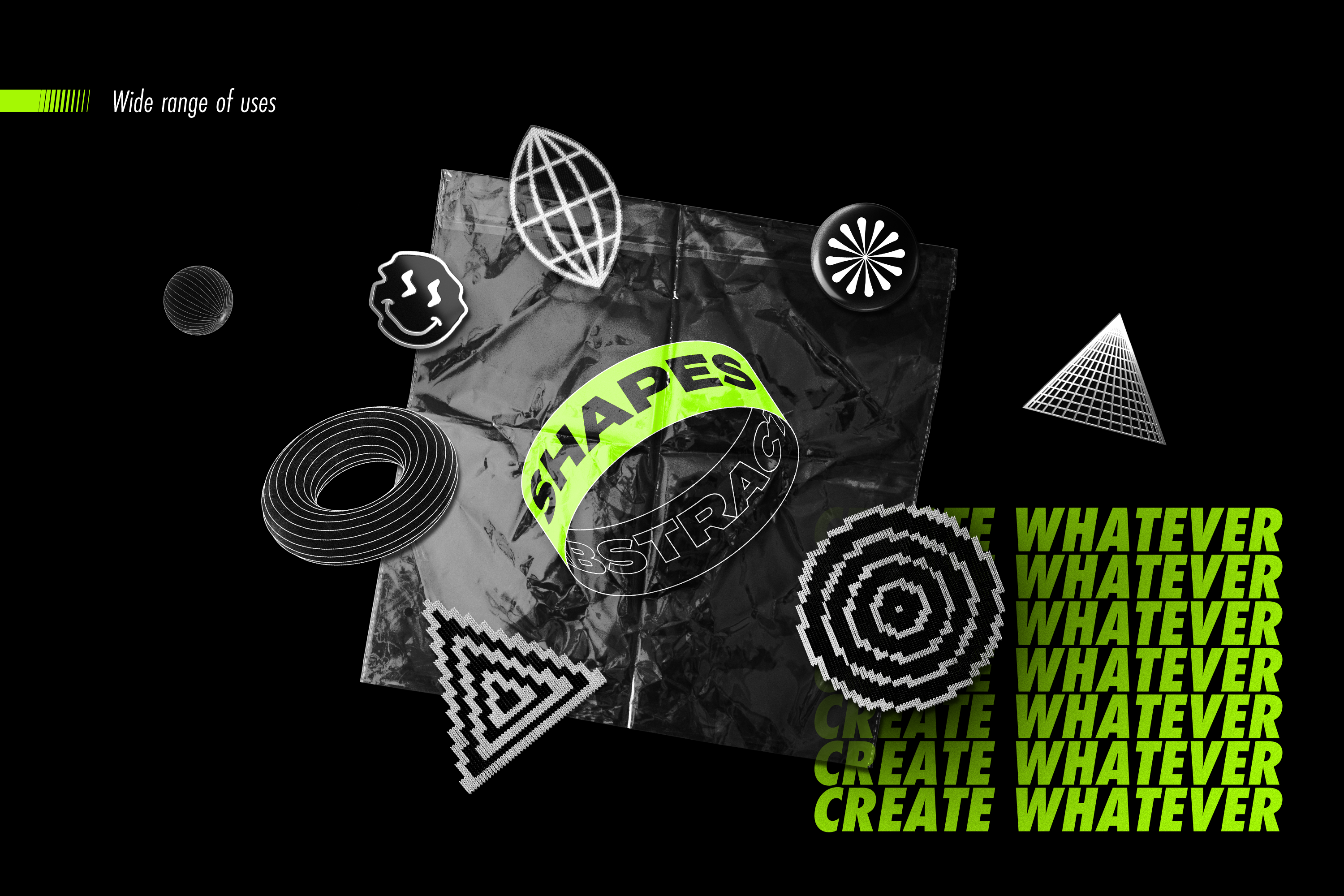 Abstract Shapes collection - 100 design elements example image 3