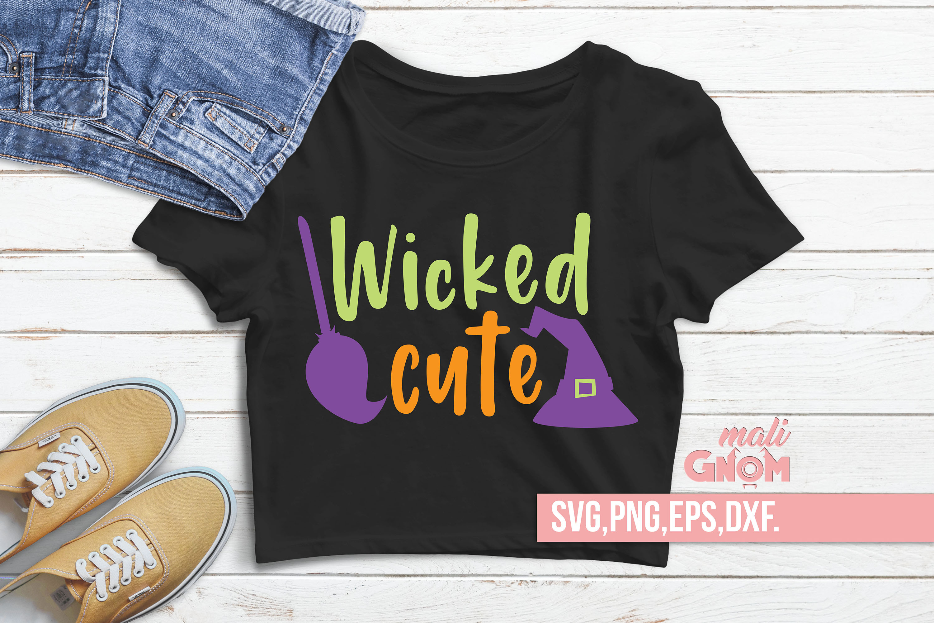 Wicked Cute SVG, Halloween SVG file, Trick or Treat Bag SVG example image 2
