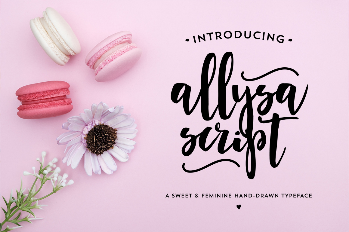 ALLYSA SCRIPT a Hand Lettered Brush Font example image 1