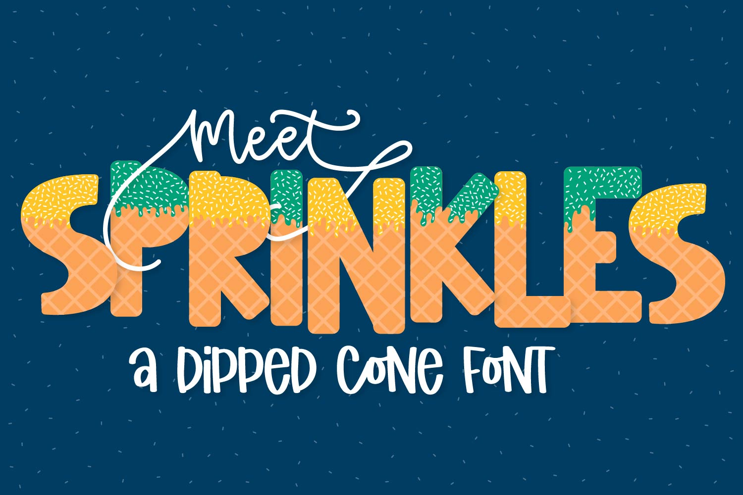 Sprinkles - A Dipped Cone Font For Layering example image 1
