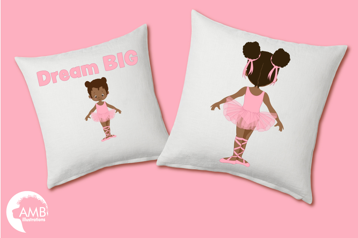 Ballerina sisters, ballerina friends, ballet clipart, graphics and illustrations AMB-2264 example image 3
