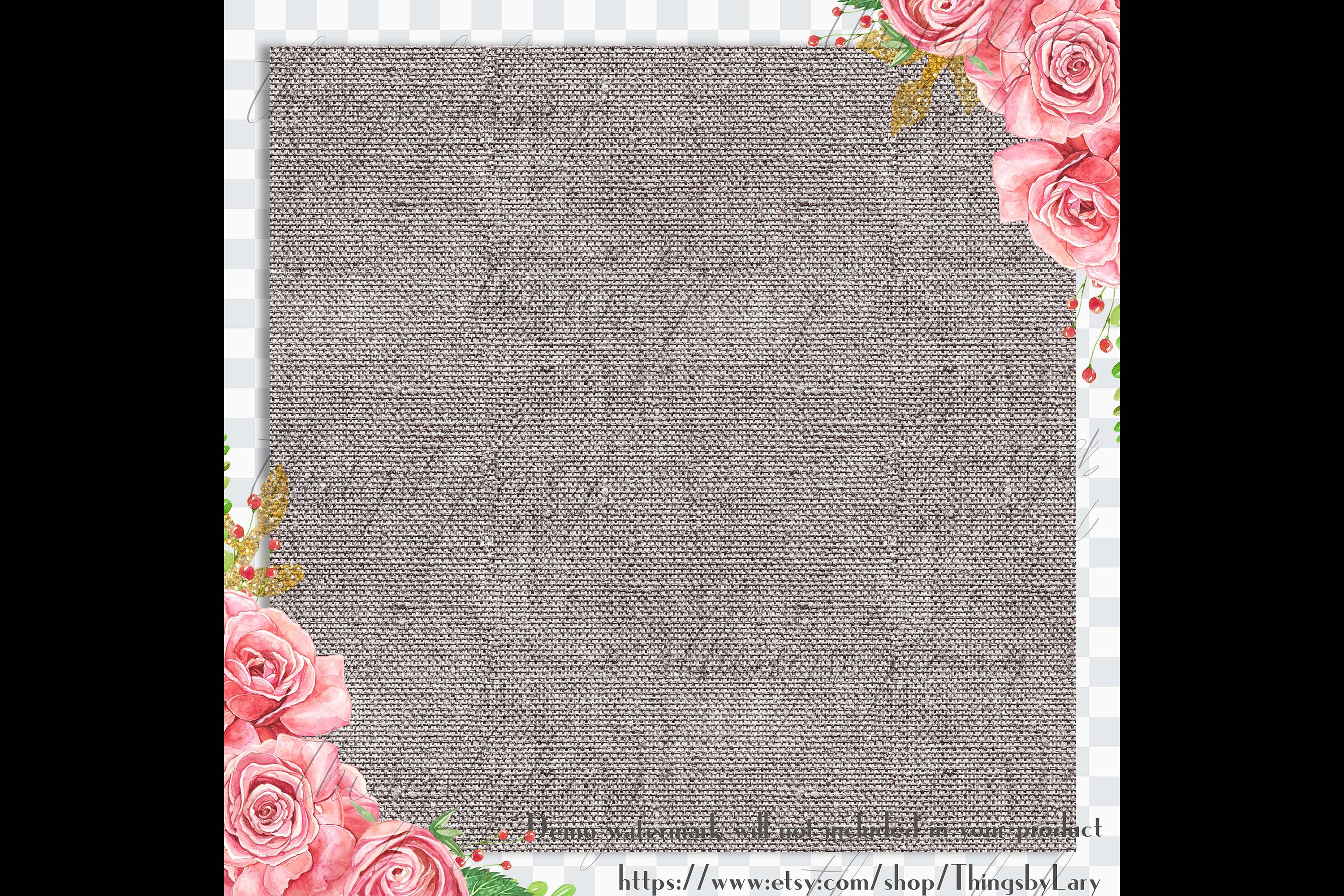 18 Seamless Realistic Neural Linen Burlap Digital Papers example image 2
