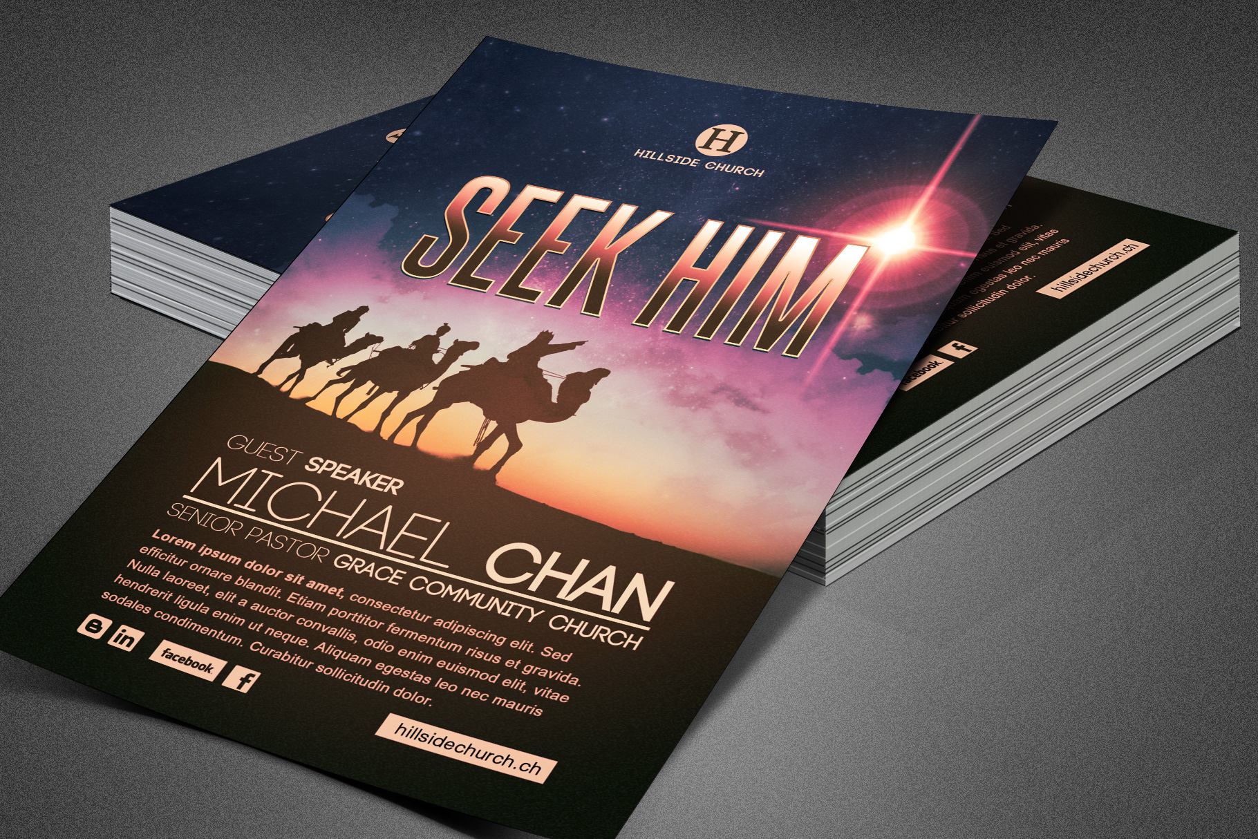 Seek Him Church Flyer Template example image 3