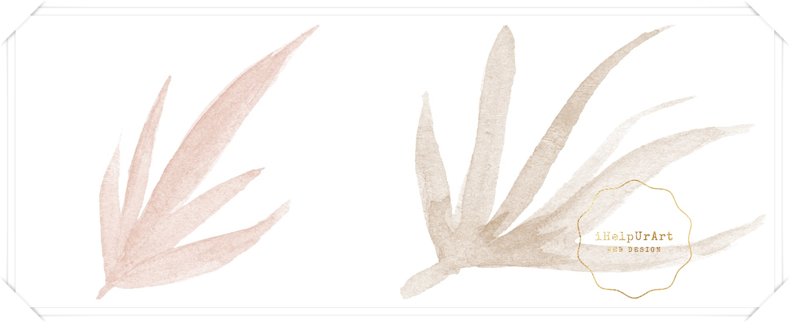 Watercolor and Copper Botanical Cip Art example image 6