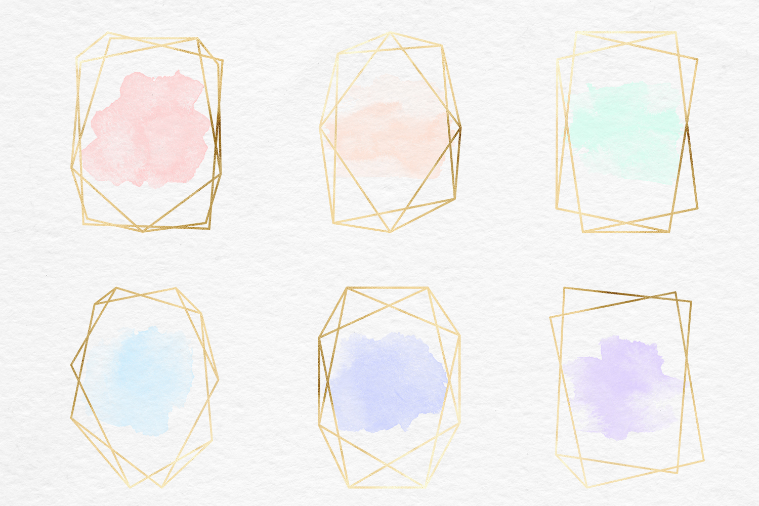 Gold And Watercolor Frames example image 2