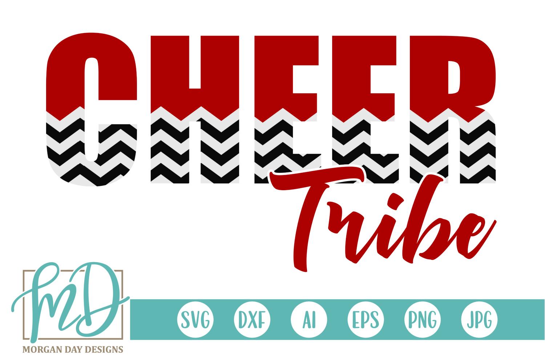 Cheer Tribe - Cheerleader SVG, DXF, AI, EPS, PNG, JPEG example image 1