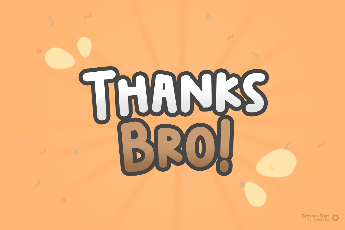 Brother - Happy Fun Font example image 6