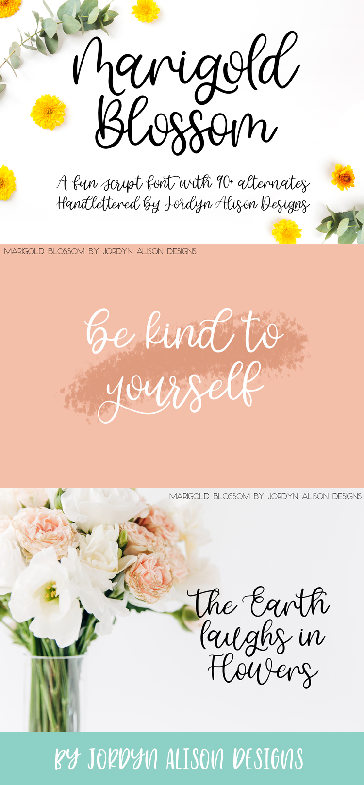 Marigold Blossom, Hand Lettered Script Font example image 11