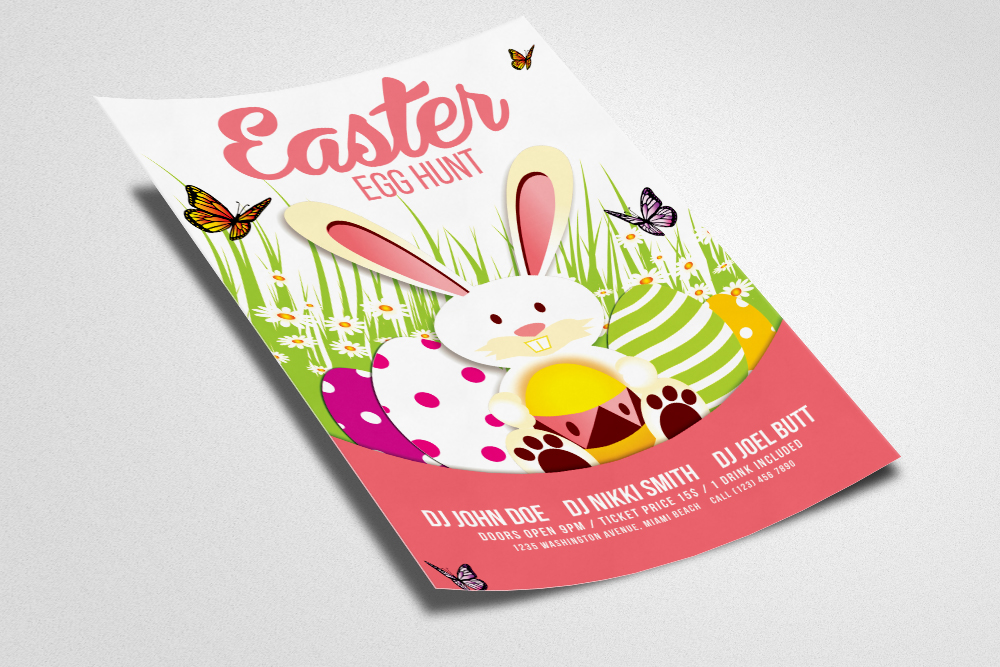 Egg Hunt Easter Flyer Print Template example image 2