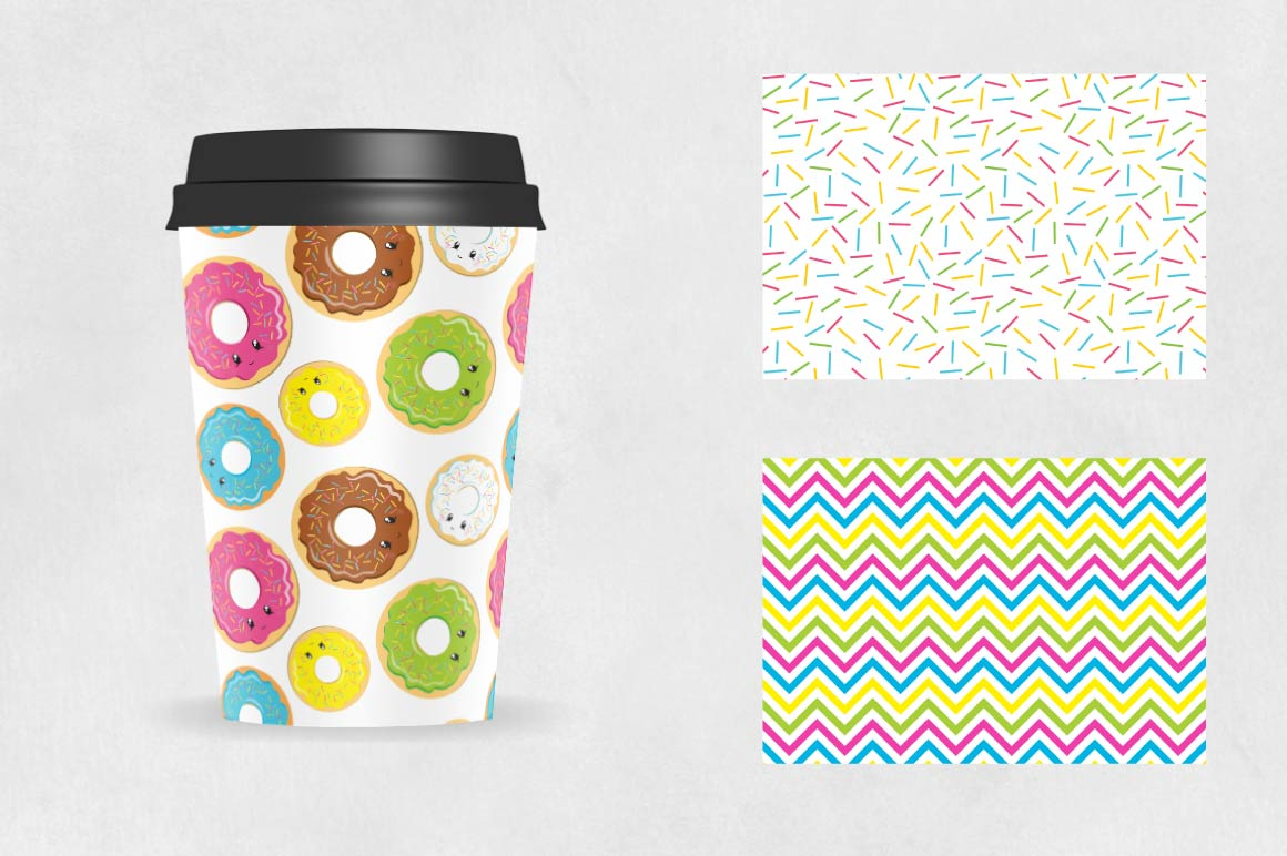 Donut, digital papers example image 3