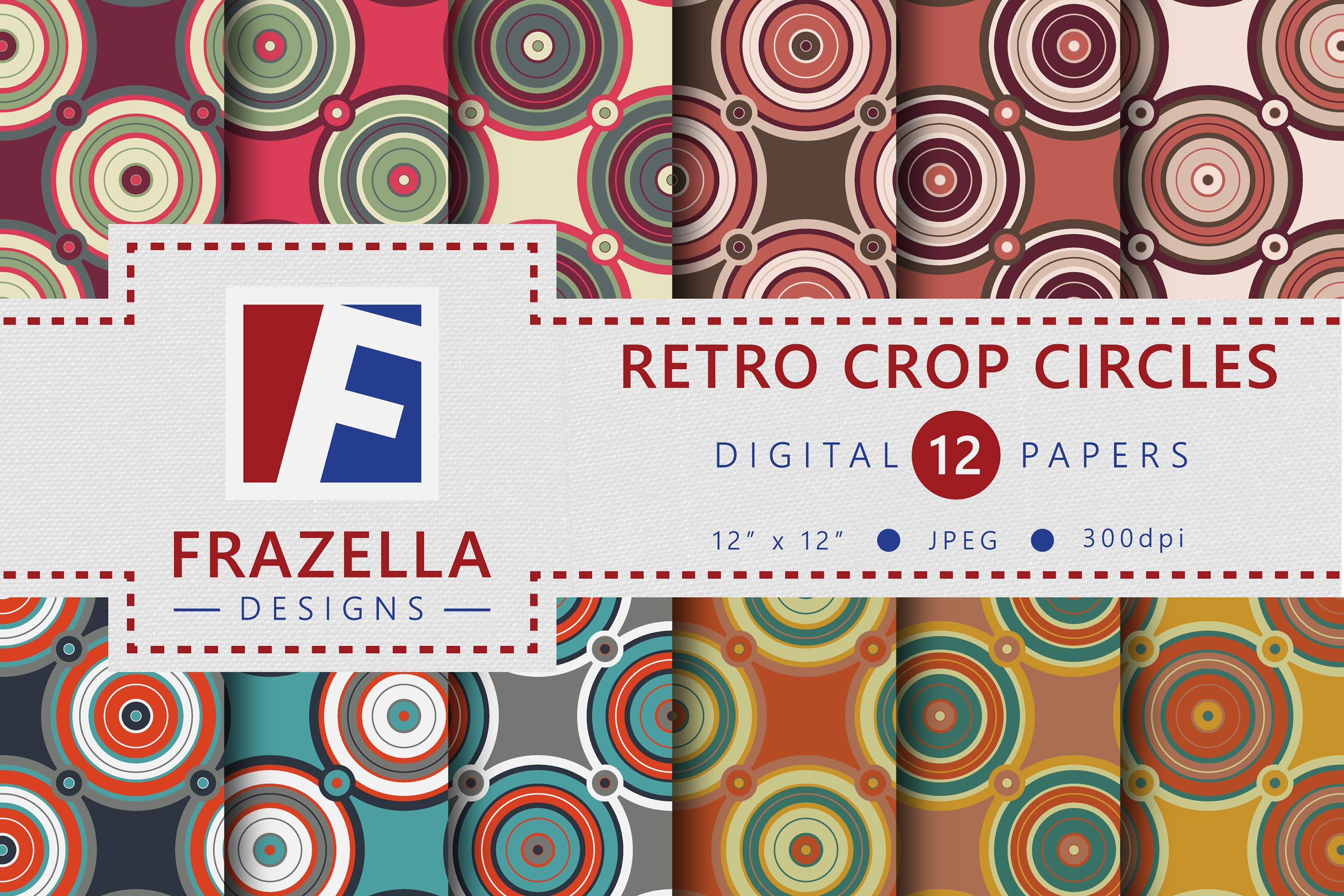 The ULTIMATE Digital Paper Collection Retro Edition Vol. 3. example image 4