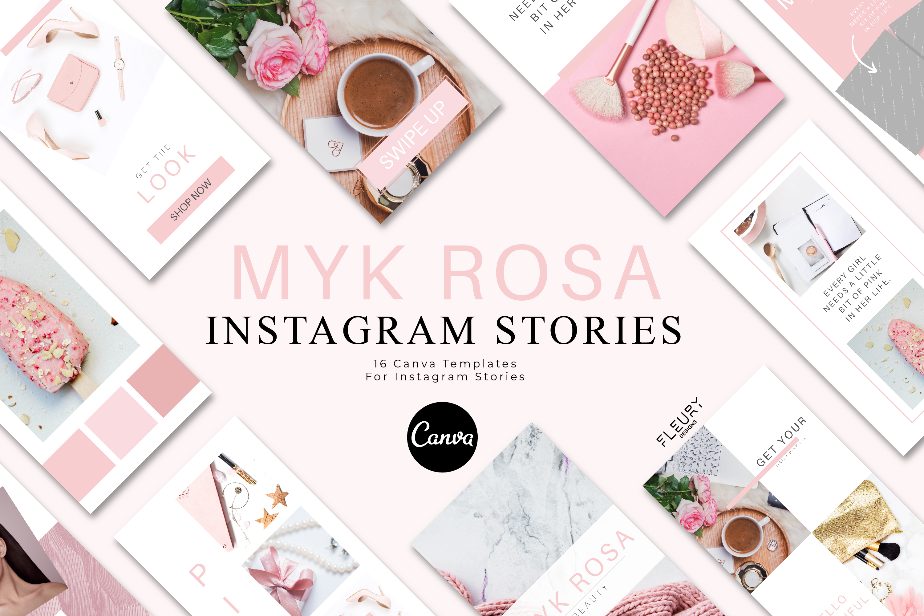 Instagram Story Canva Template - Myk Rosa example image 1