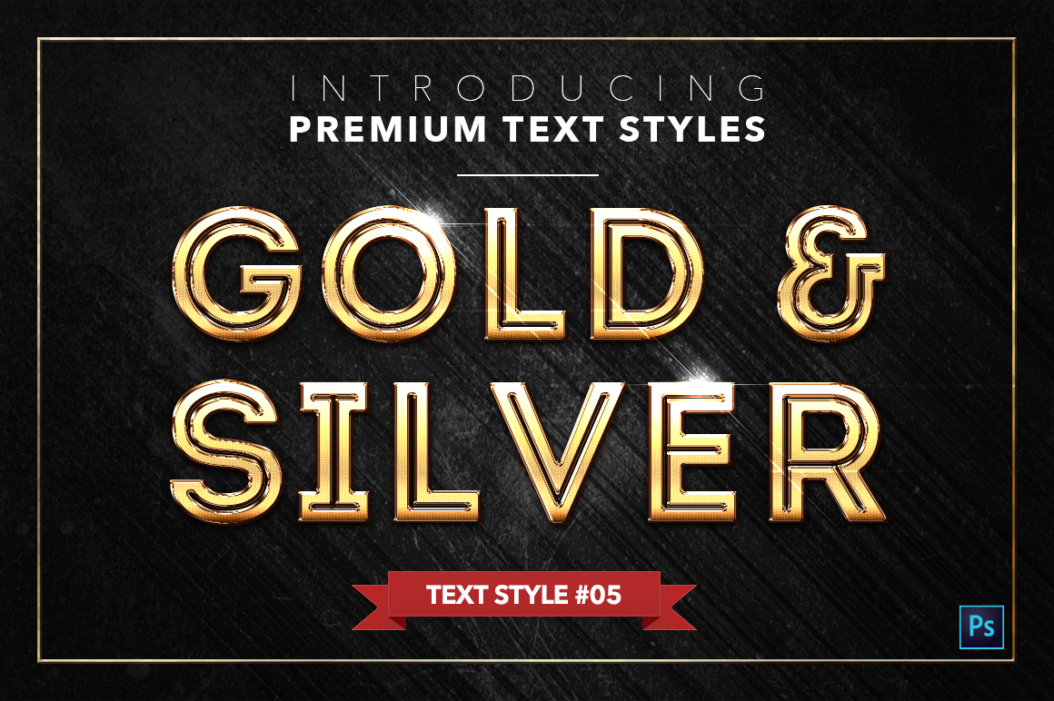 Gold & Silver #2 - 20 Text Styles example image 19