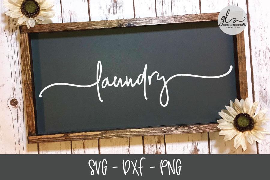 Laundry Sign Bundle - 20 Designs - SVG Cut Files example image 6
