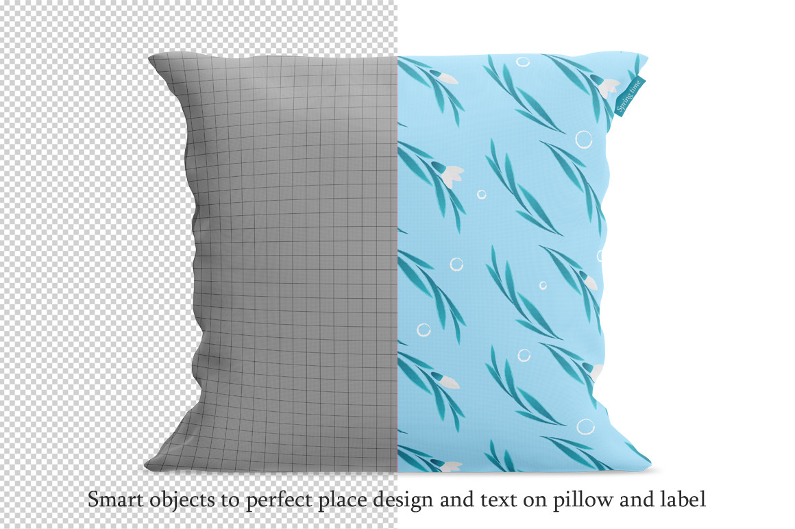 Square pillow mockup. Front view. Product mockup. example image 2