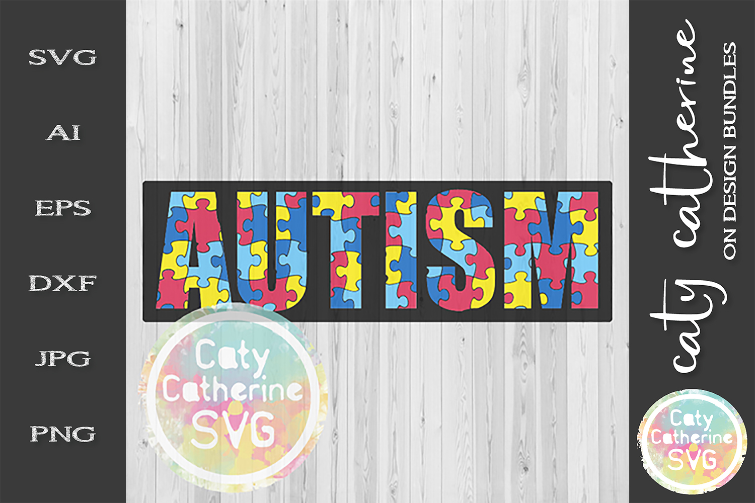 Autism SVG Jigsaw Puzzle Autism Awareness Cut File example image 2