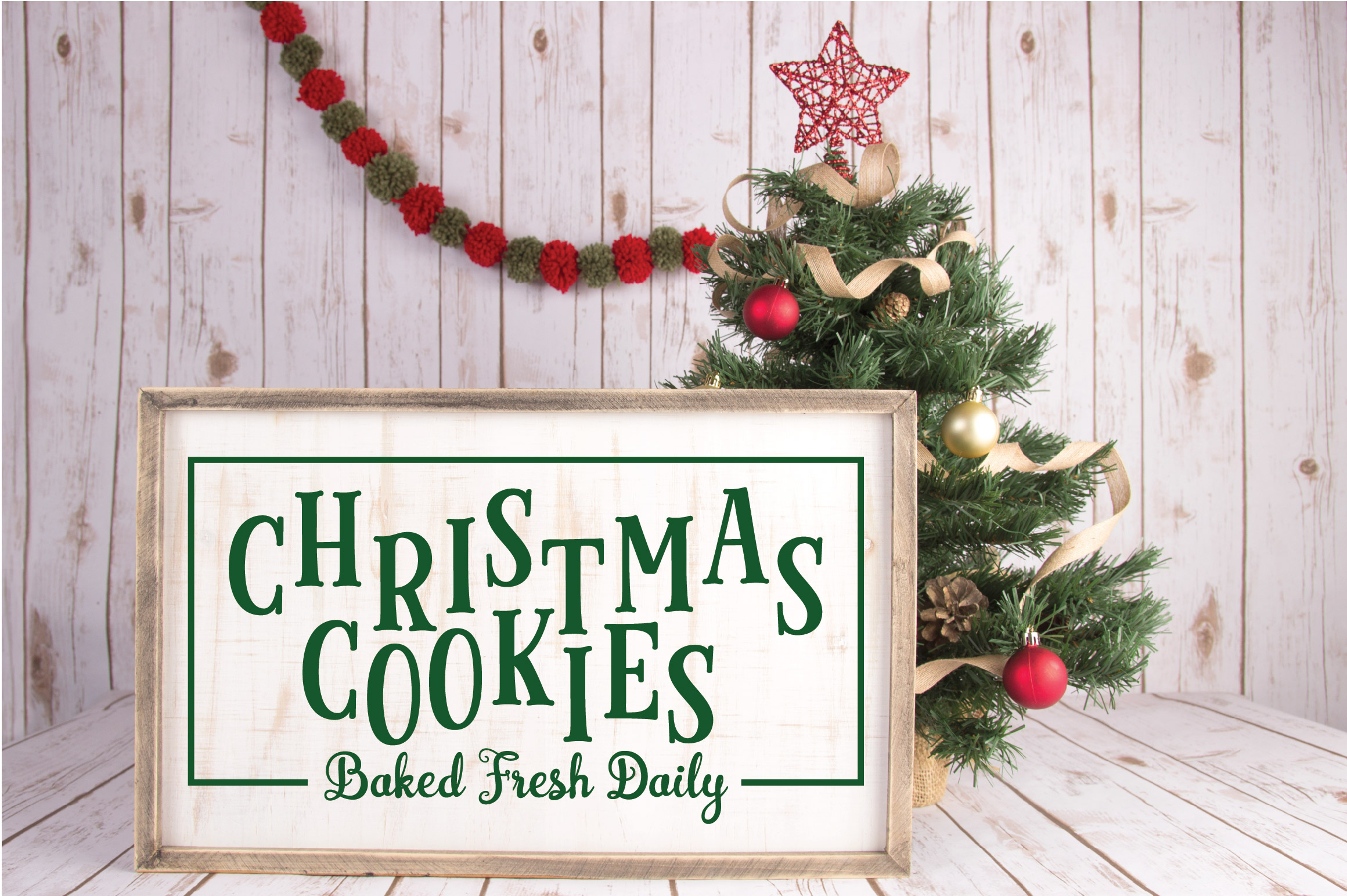 Christmas SVG Cut File - Christmas Cookies SVG DXF PNG EPS example image 2