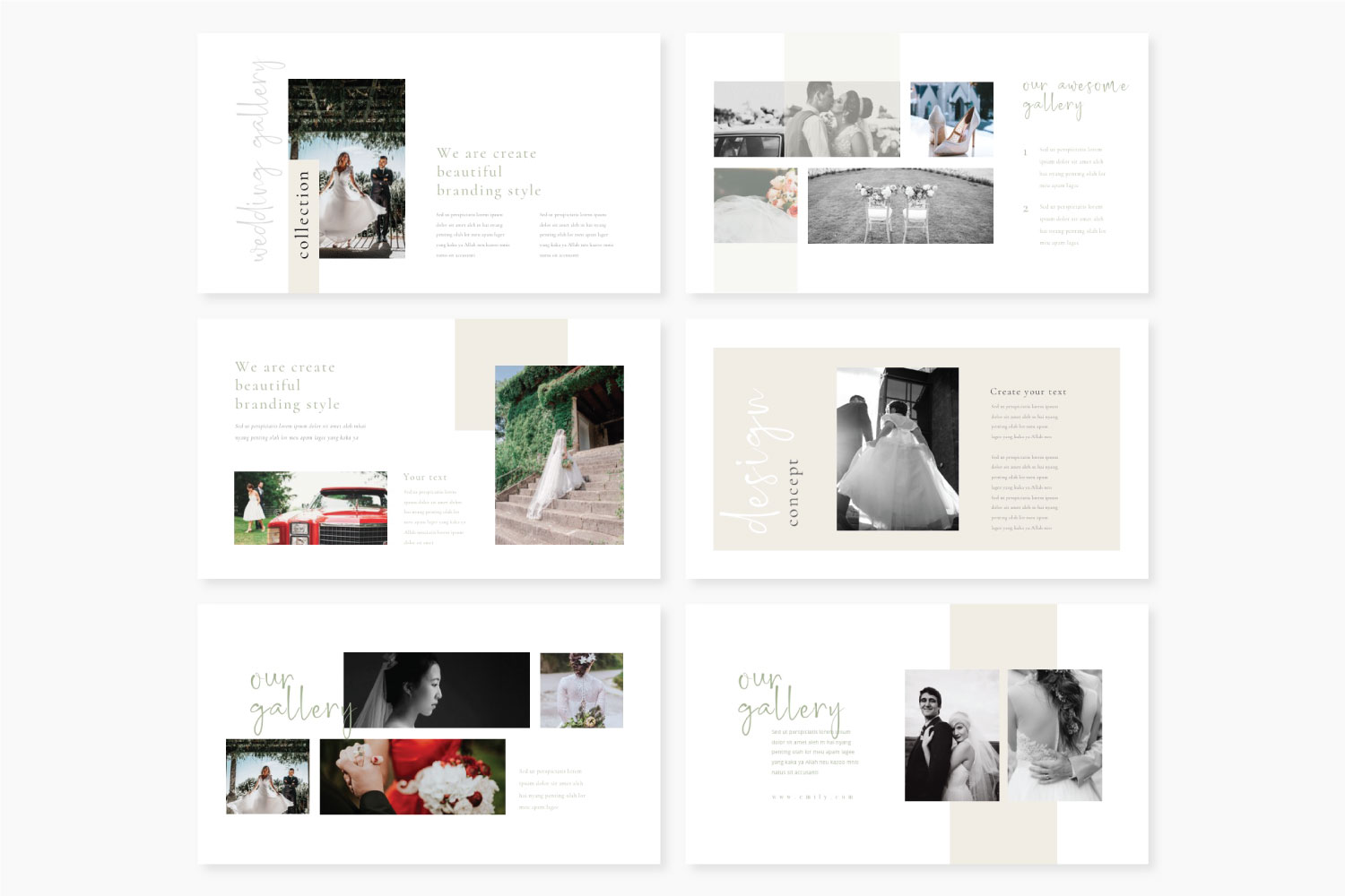 Wedding Powerpoint template example image 3