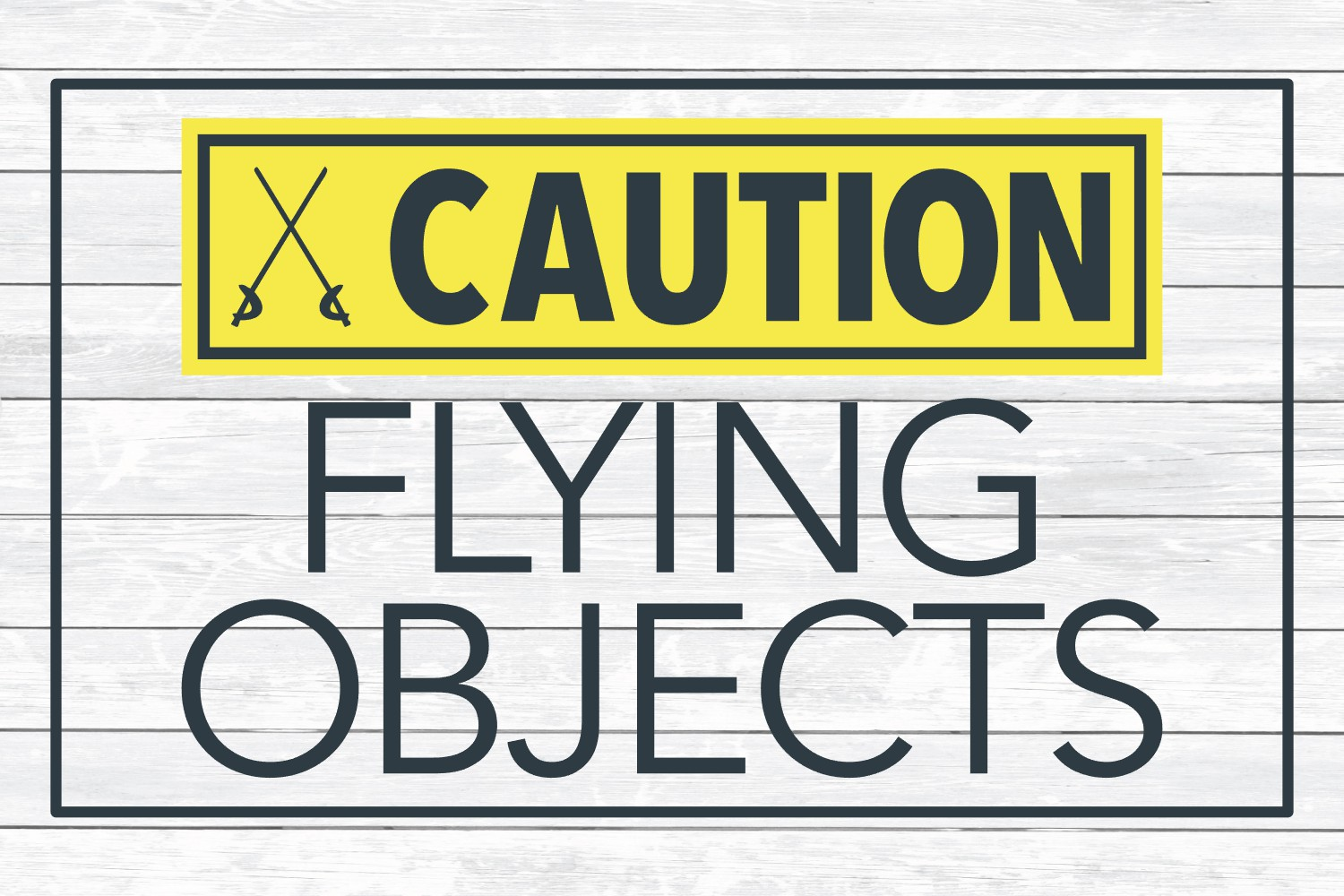 Caution Flying Objects, Color Guard SVG Cut File example image 3