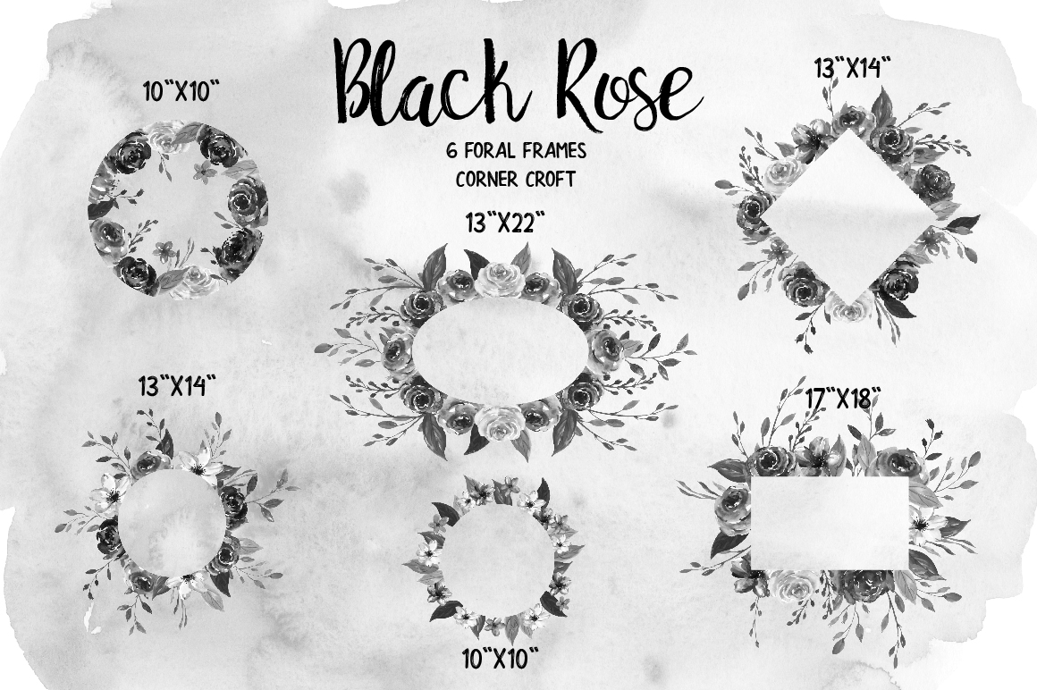 Watercolor Collection Black Rose example image 9