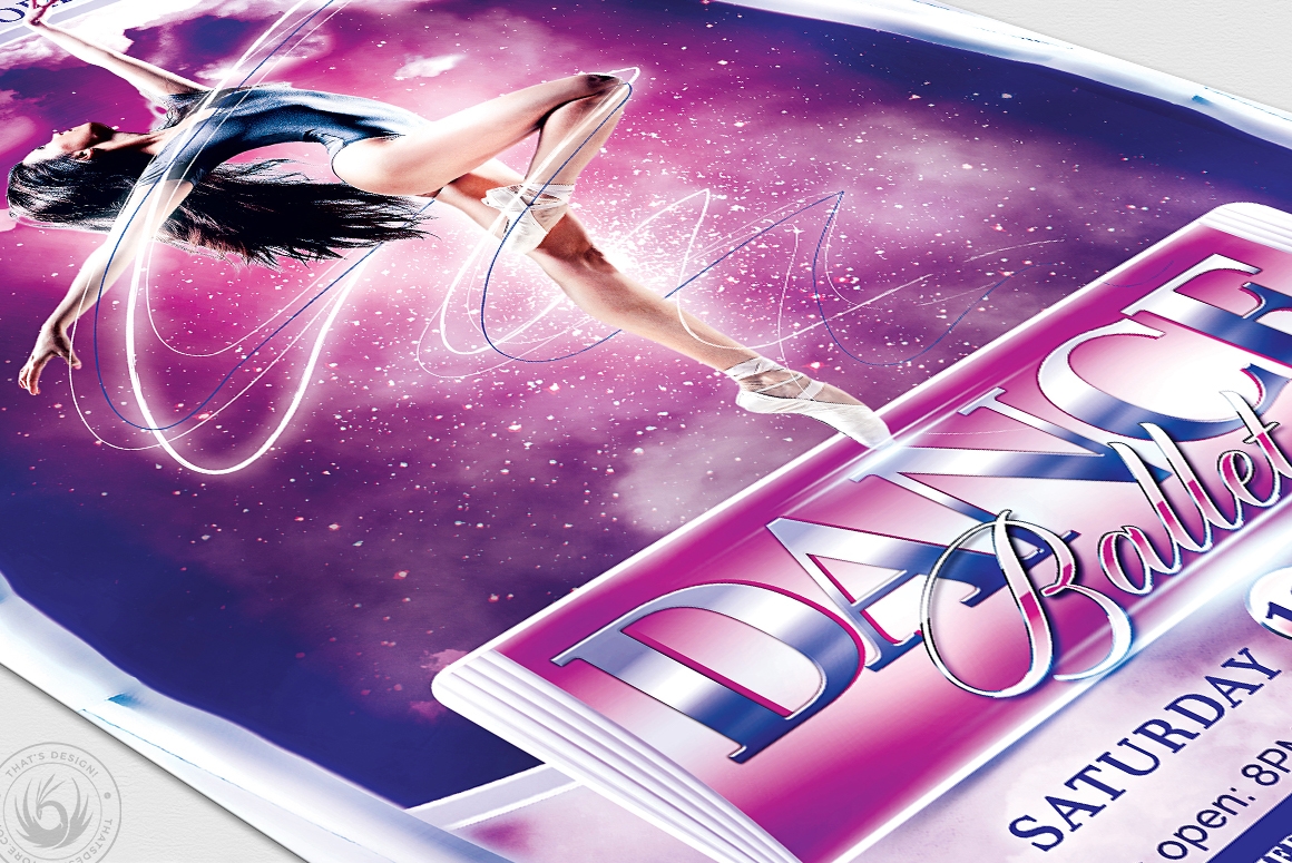 Dance Ballet Flyer Template V1 example image 6