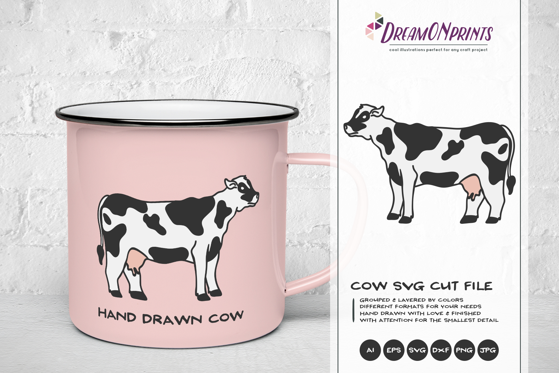 Cow SVG Cut Files example image 1