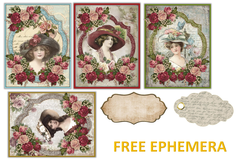 Printable Journaling Kit Victorian with FREE EPHEMERA cu example image 10