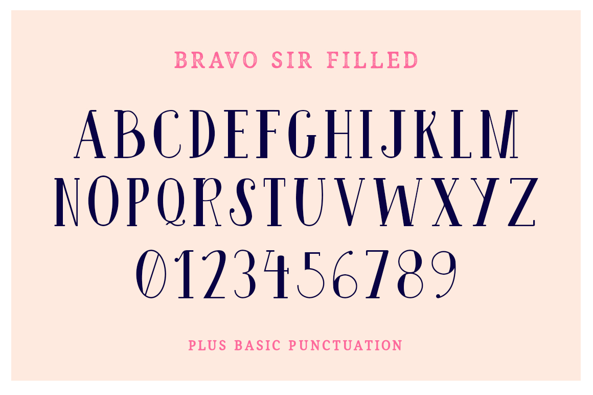 Bravo Sir Font Family example image 7