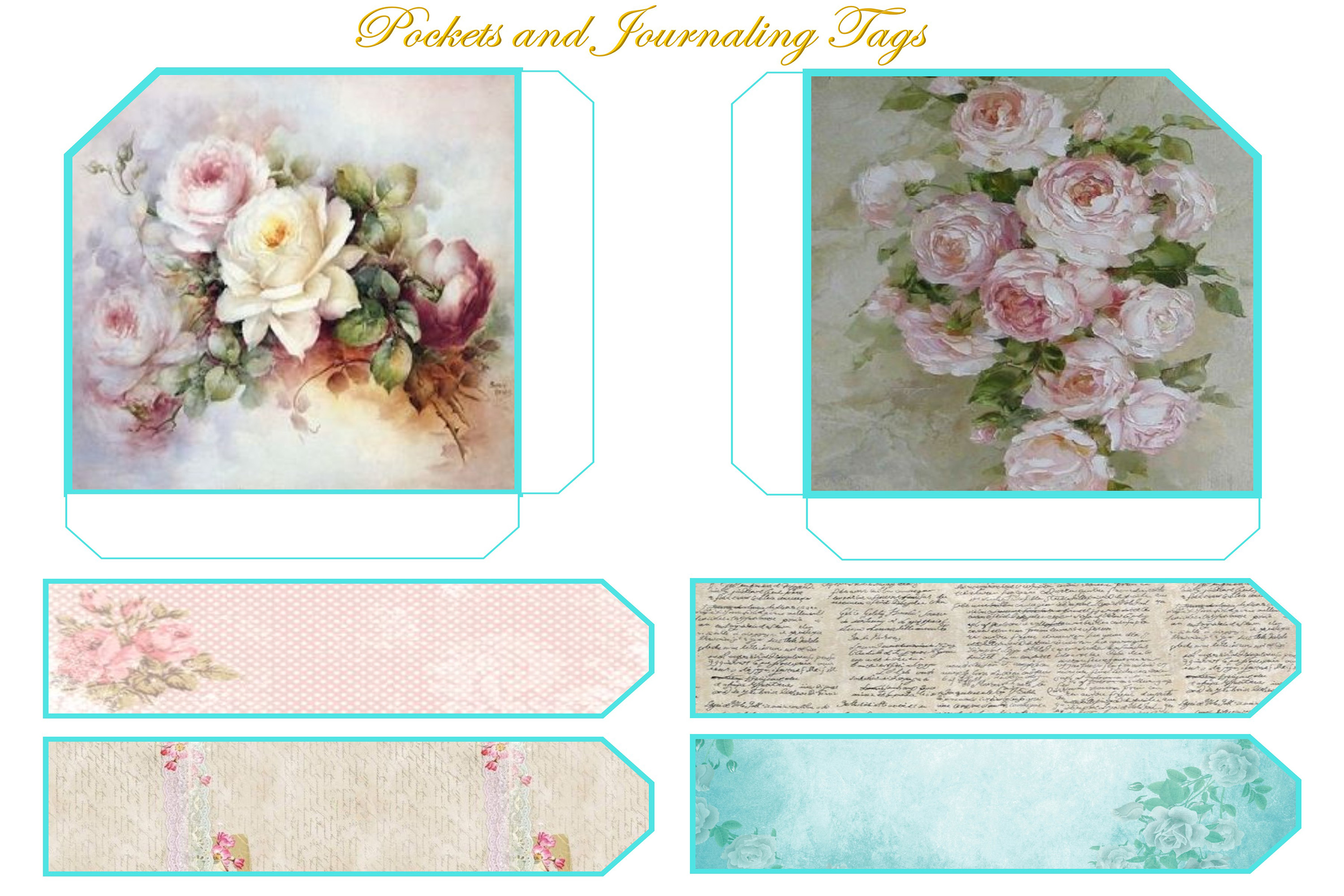 Printable Journal Kit with free Ephemera and clipart example image 12