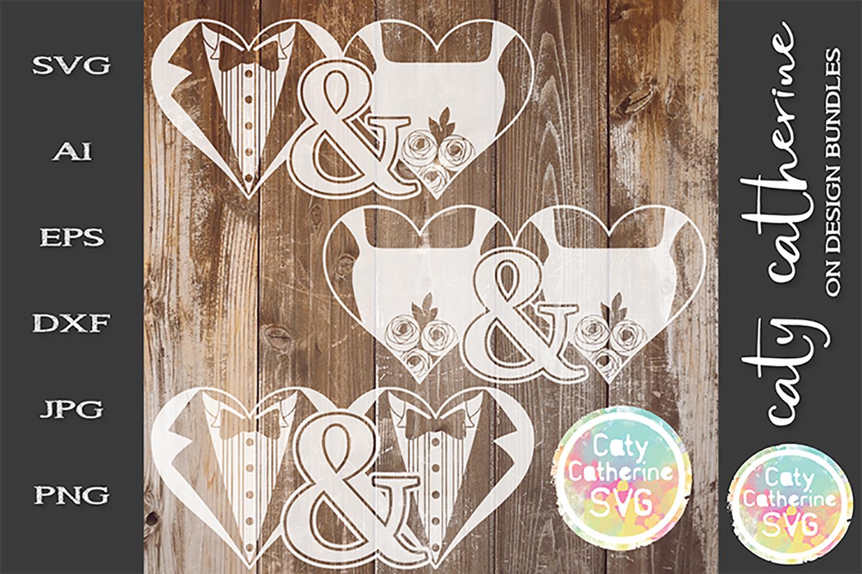 BUNDLE Mr & Mrs Mr & Mr Mrs & Mrs Bride & Groom Wedding SVG example image 1