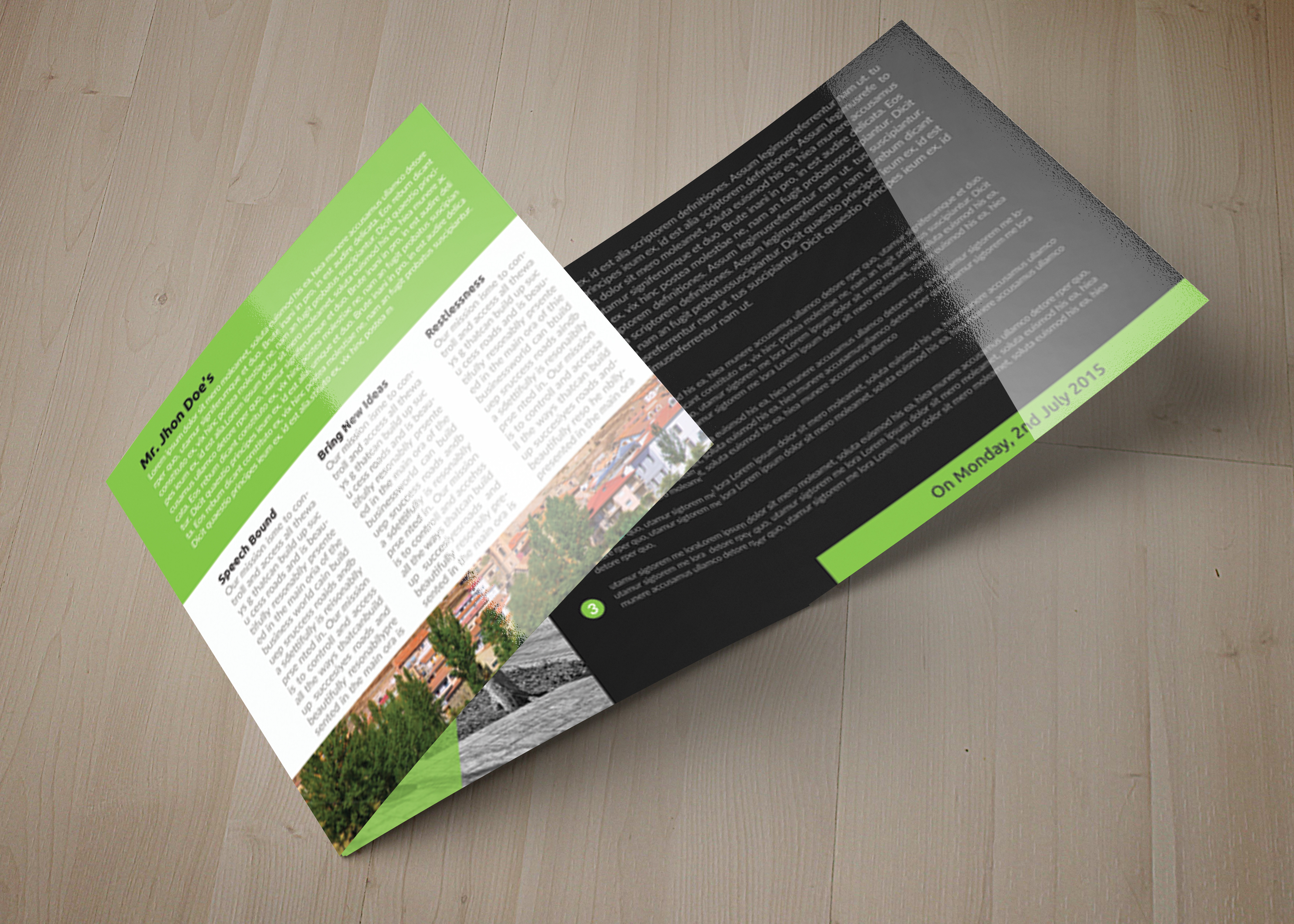 Business Tourist Square Trifold Brochure example image 5
