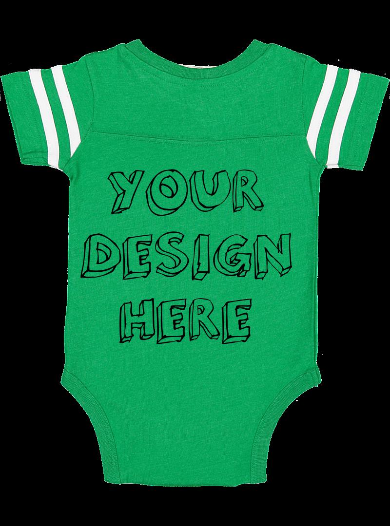 Infant Football Bodysuit Mockups - 12 |PNG|Front/Back - V1 example image 9