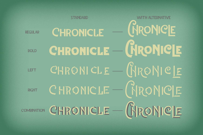The Chronicle - Layered Typeface example image 6
