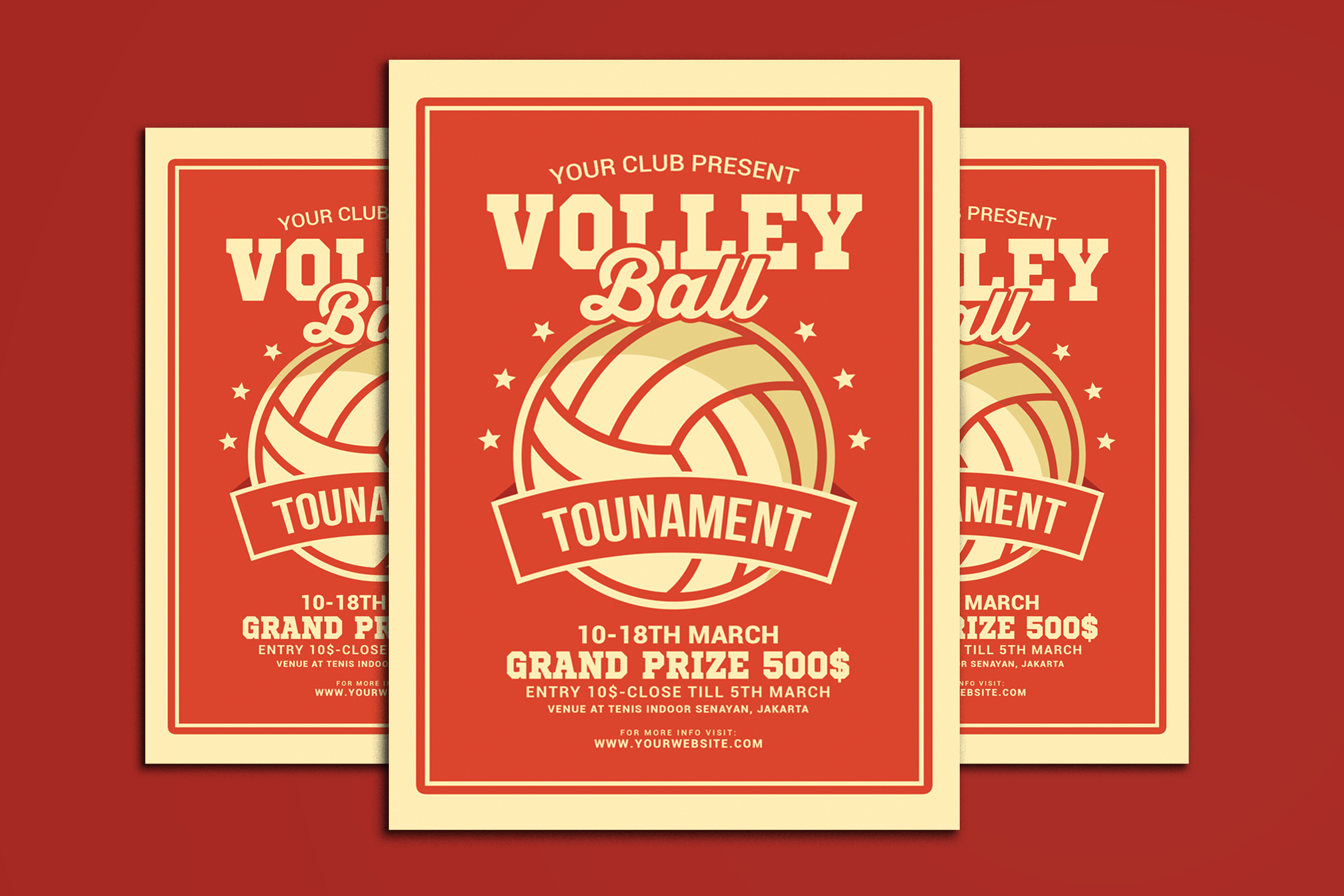 Volleyball Tournament Flyer example image 1