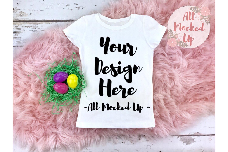 Next Level 3710 White T-shirt Mock Up Easter Theme - 2/19 example image 1