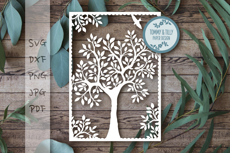 MEGA BUNDLE! Family Tree Cut Files - SVG | Papercut example image 16