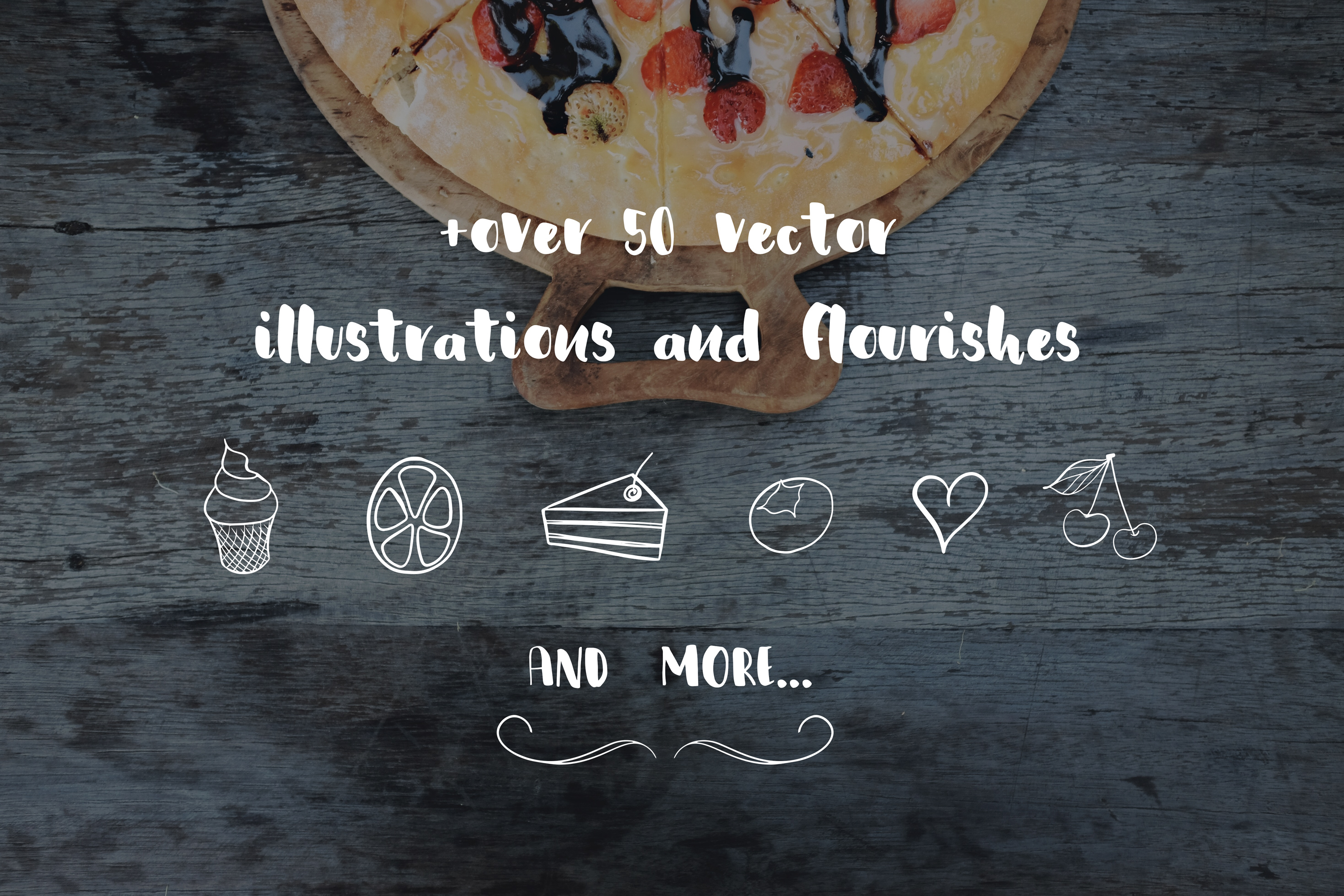 Blueberry Cookie Messy Brush Font example image 9