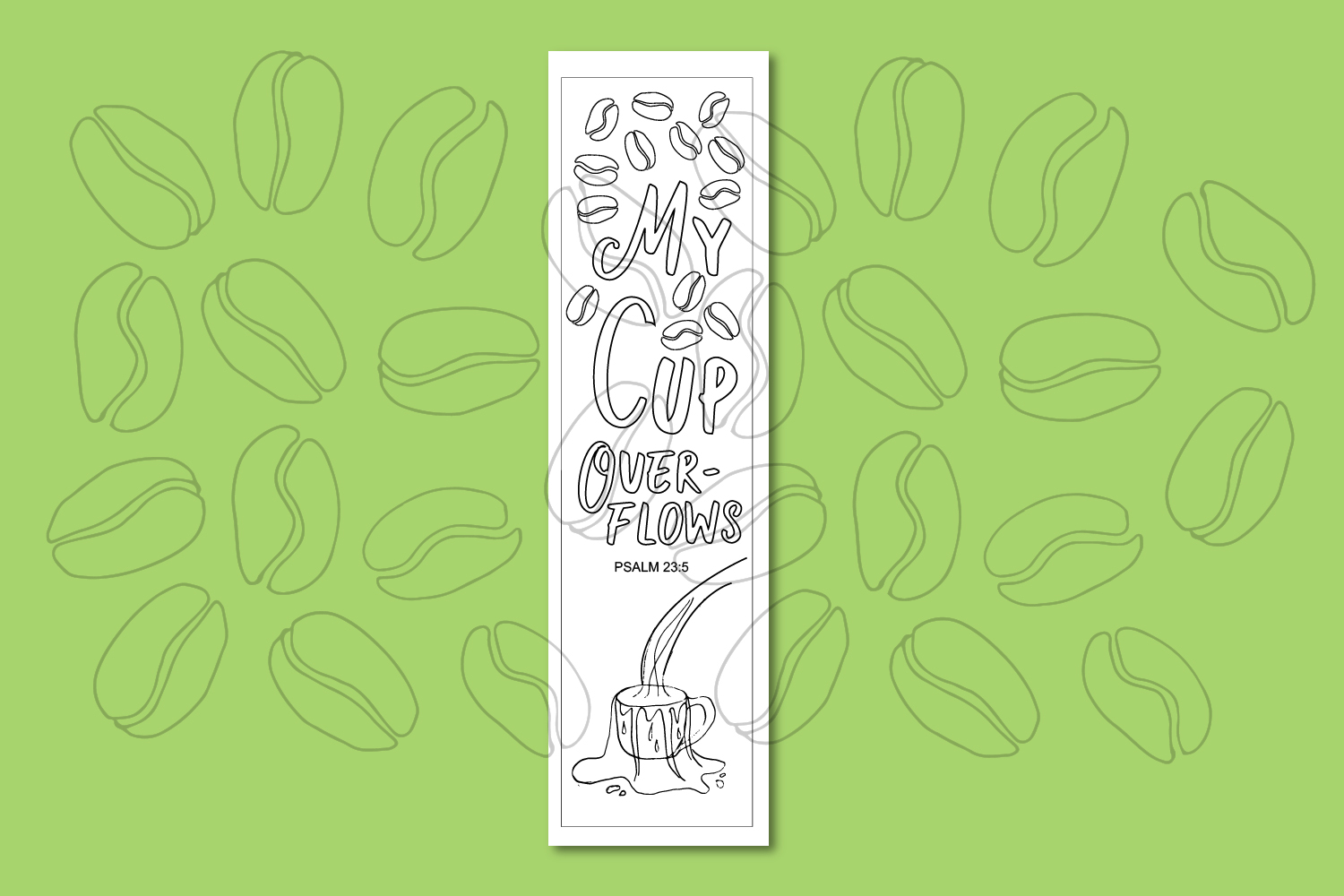 Printable Coloring page Coffee Themed Bible Verses example image 6