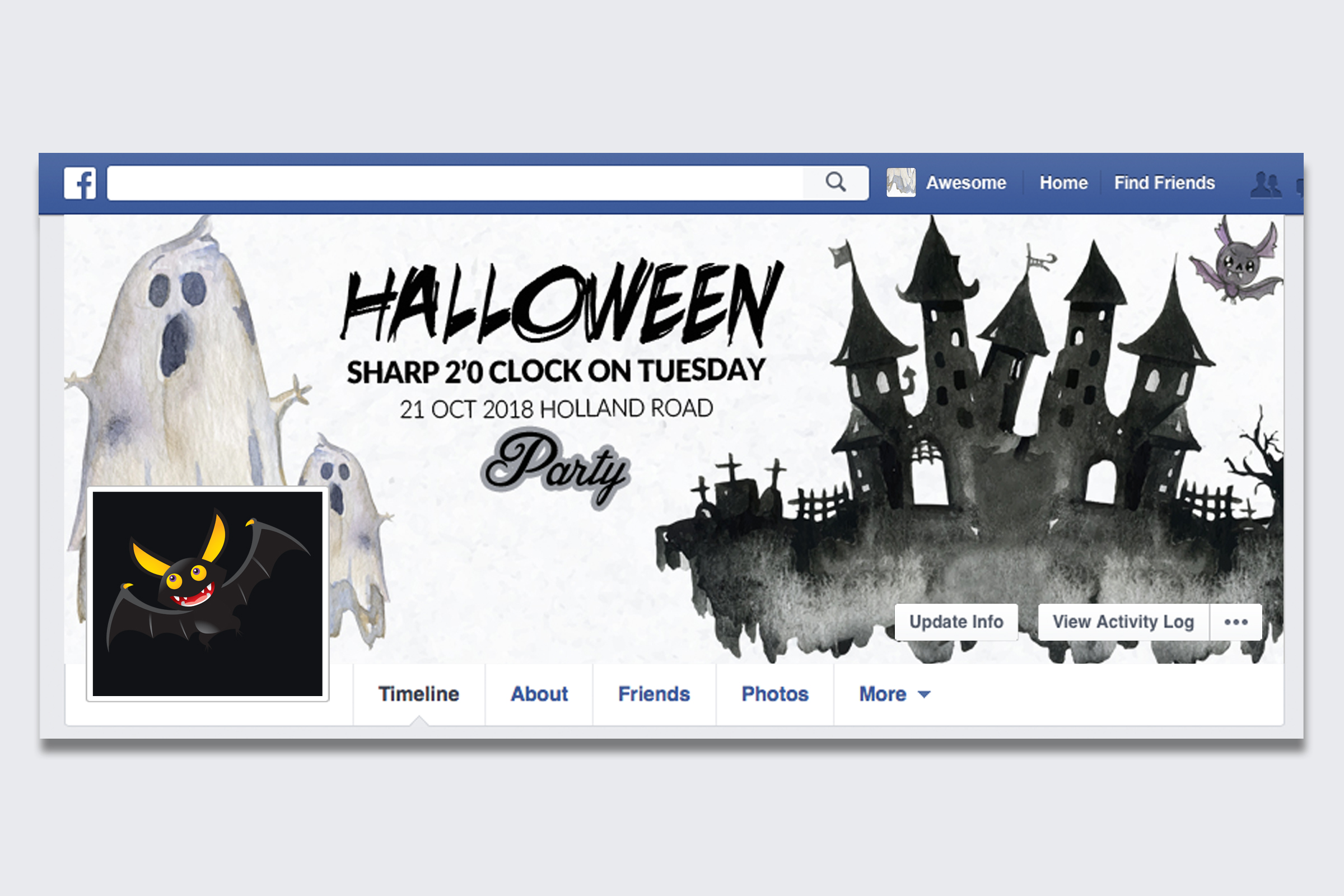 10 Halloween Facebook Timeline Cover Bundle example image 5