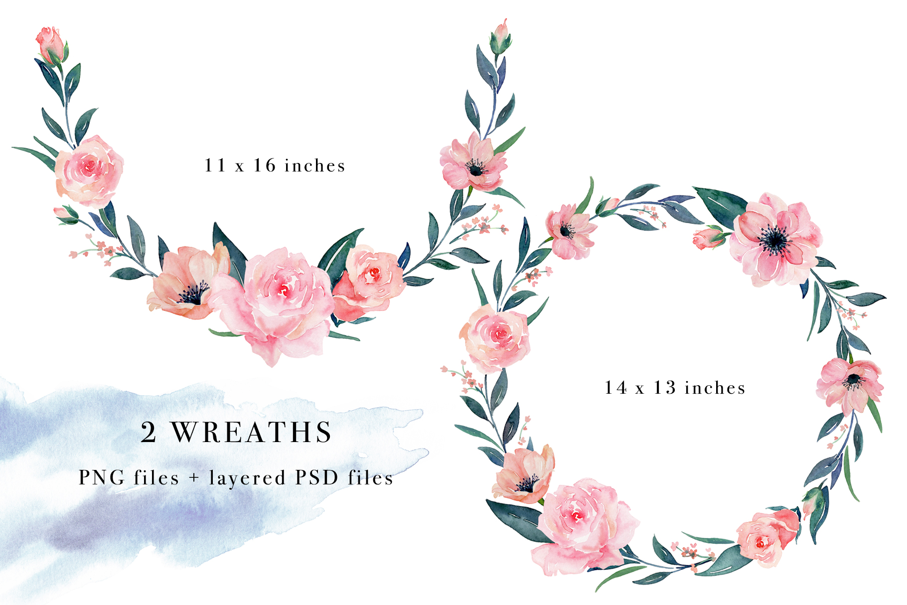 Floral Watercolor Bundle example image 22
