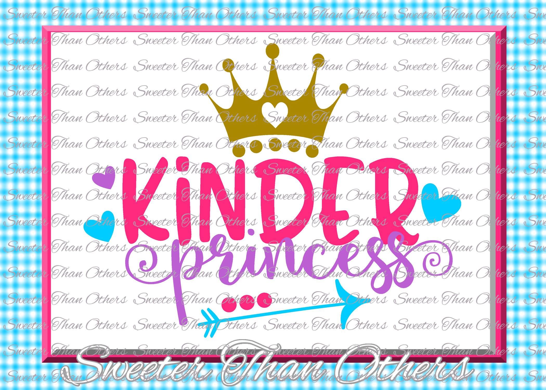 School Princess SVG Bundle Kindergarten First Day of School example image 8