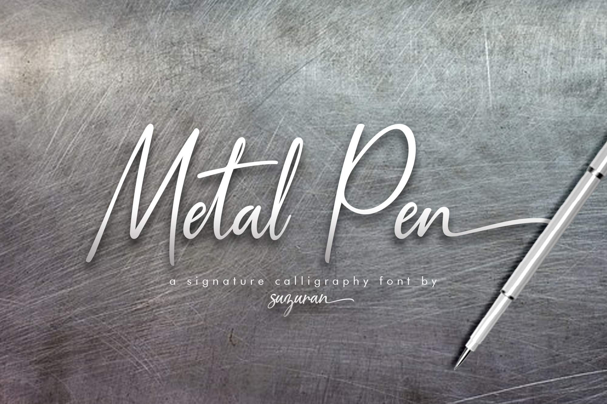 Metal Pen Script 3 Fonts example image 1