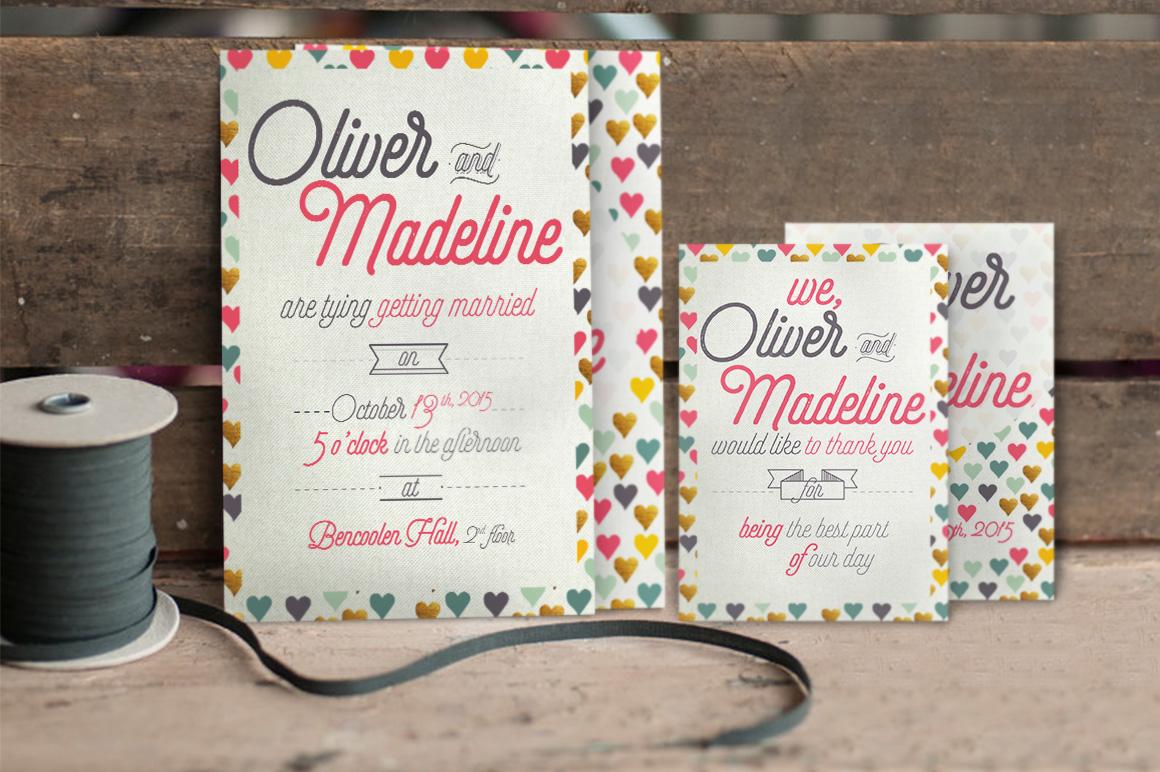 Fun Pattern Wedding Invitation example image 2