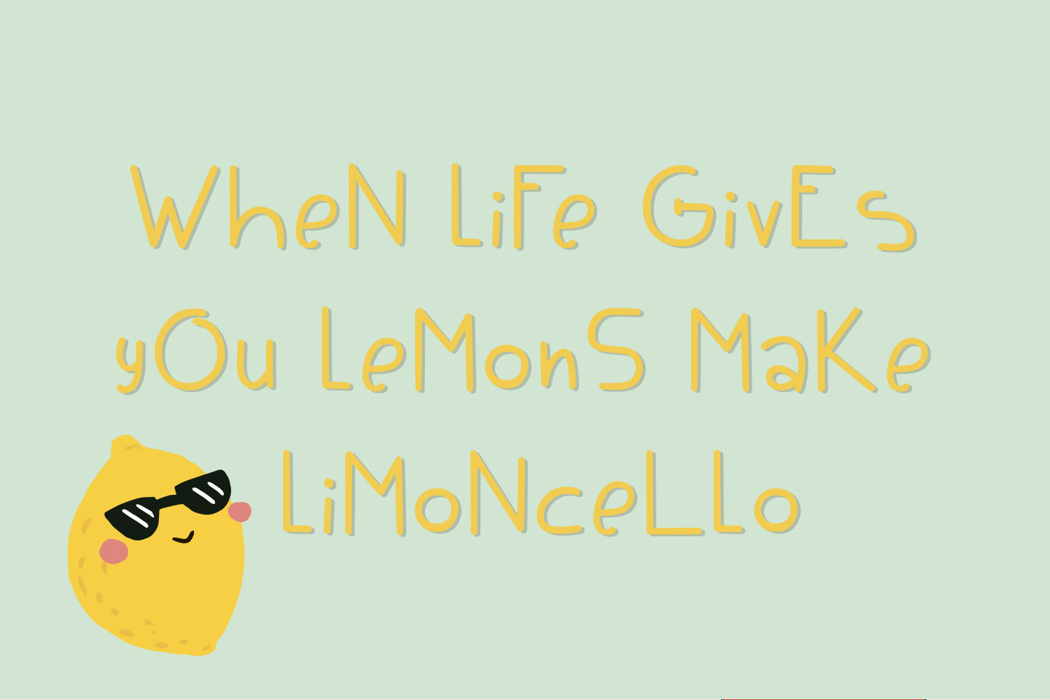 Limoncello funny font example image 3
