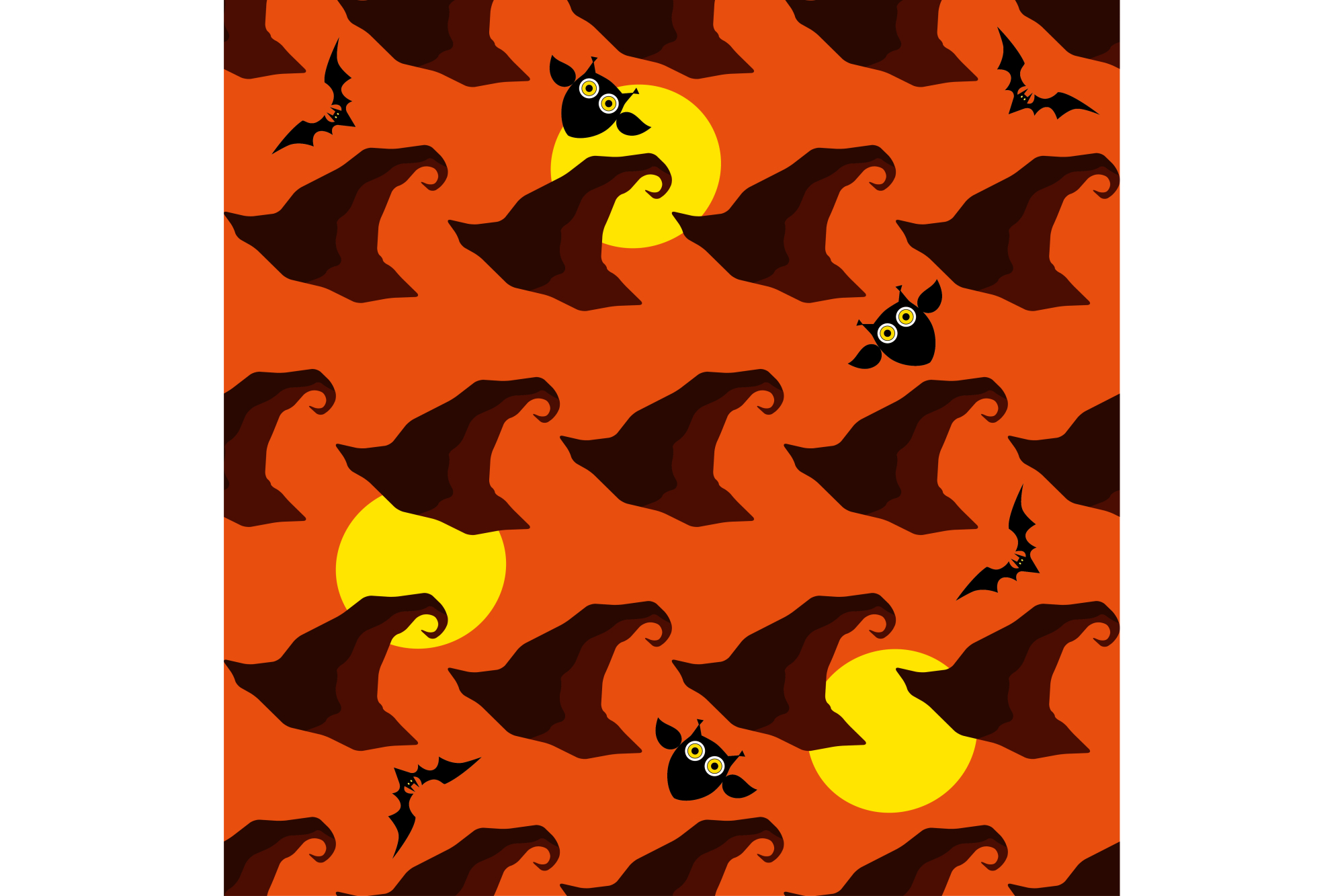 Seamless decorative vector background Happy Halloween. example image 1