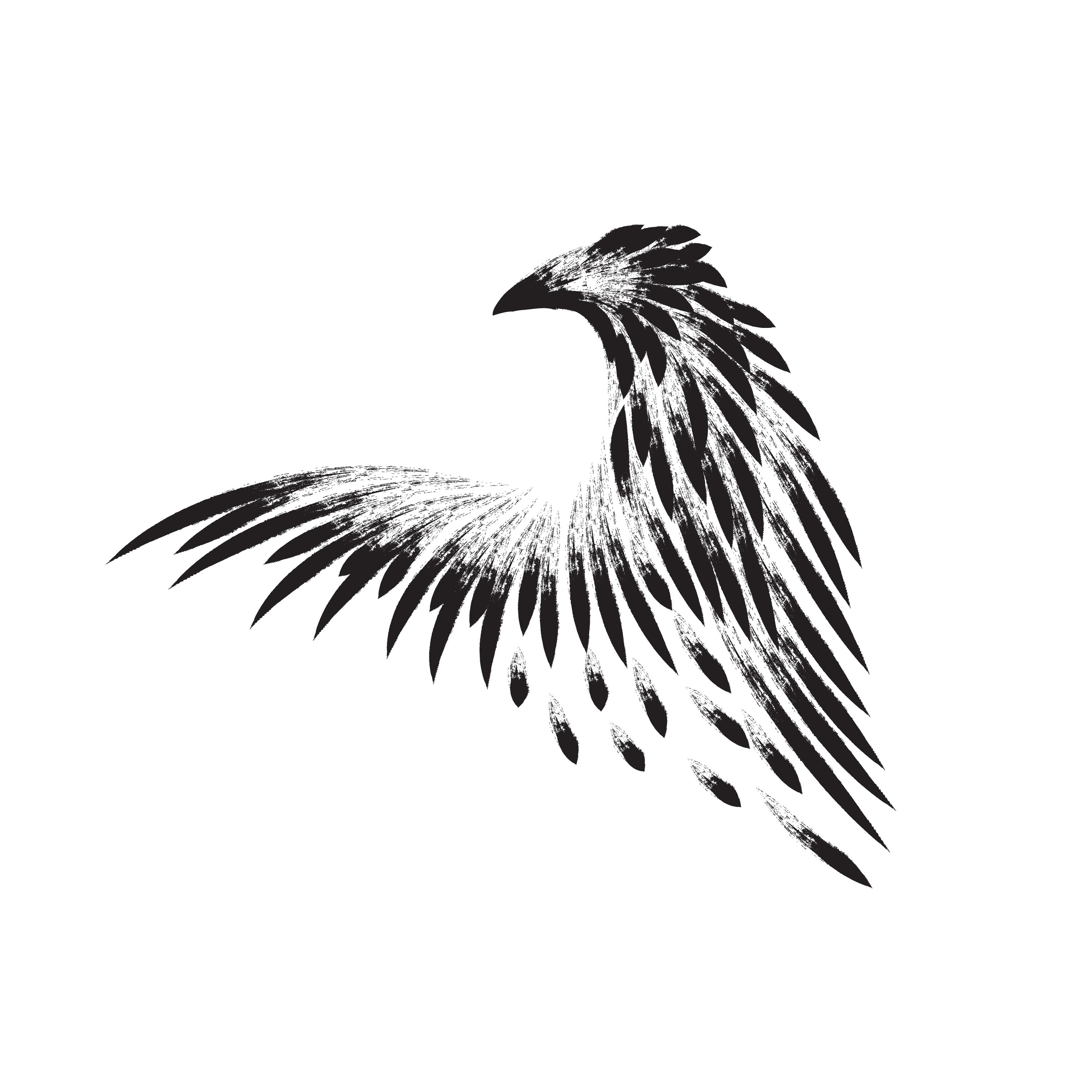 Bird. Hand drawn bird tattoo. example image 1