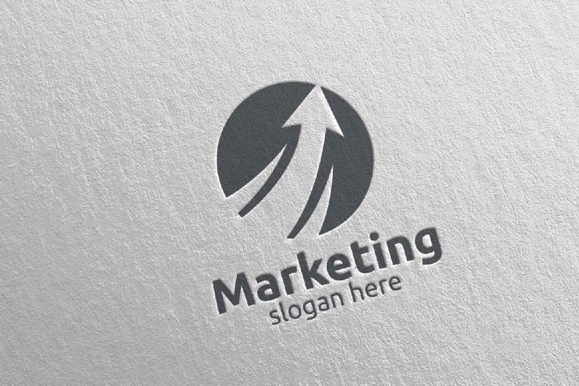 Marketing Financial Advisor Logo Design 27 example image 5