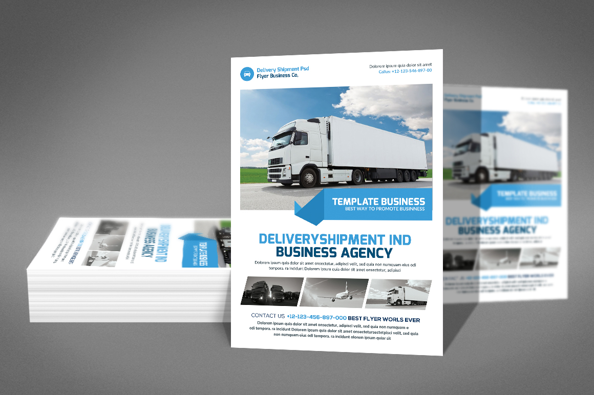 Delivery Shipment Flyer example image 3