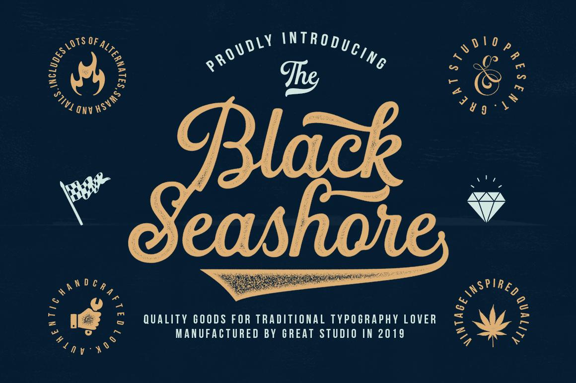 Black Seashore Font example image 1